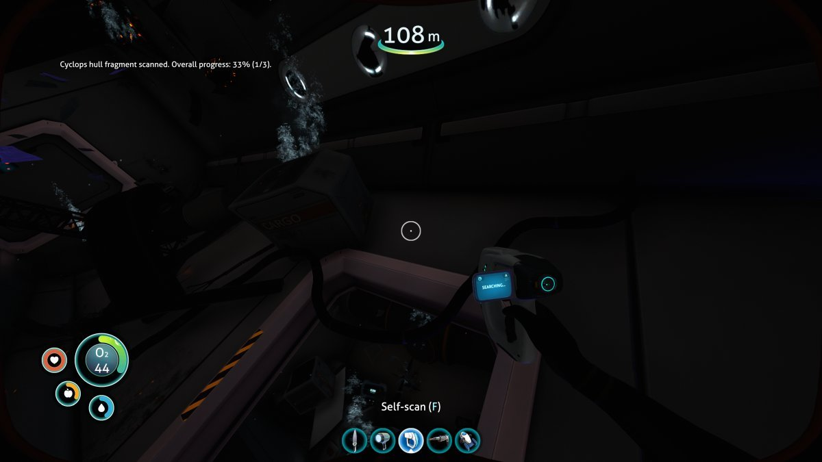 Subnautica Scanner Room Databox : Removes the scanner room blips for already opened databoxes.